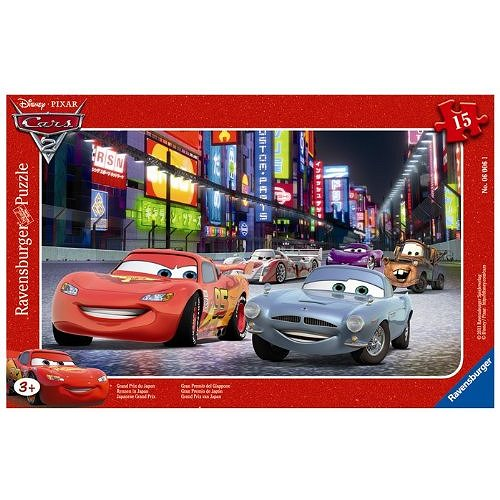 Puzzle 15 Teile Rahmenpuzzle - Cars 2: Grand Pr...