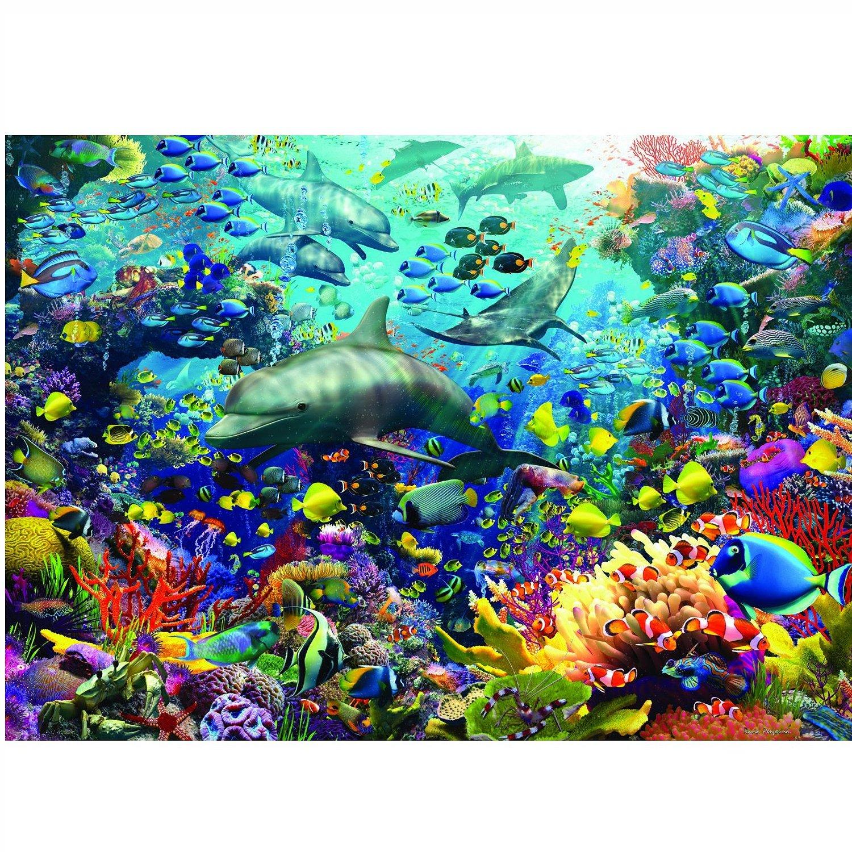 Puzzle 1000 Teile Augmented Reality Puzzle - Farbenfrohes Unterwasserreich