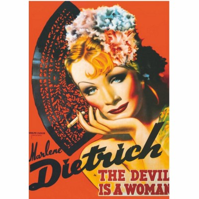 poster retro marlene dietrich the devil is a woman. Black Bedroom Furniture Sets. Home Design Ideas