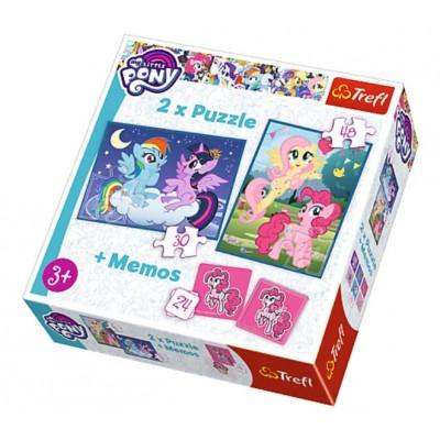 c5590e7035 2 Puzzles + Memo - My Little Pony - 30 Teile - TREFL Puzzle online kaufen