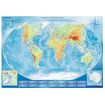 Large Physical Map of the World - 4000 Teile - TREFL Puzzle online ...