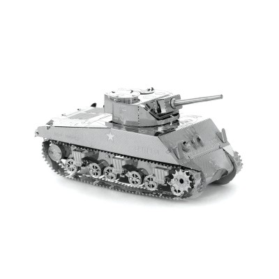 Metal-Earth-MMS204 3D Puzzle aus Metall - Sherman Tank