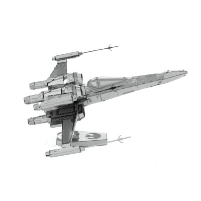 Metal-Earth-MMS269 3D Puzzle aus Metall - Star Wars: Poe Dameron's X-Wing Fighter