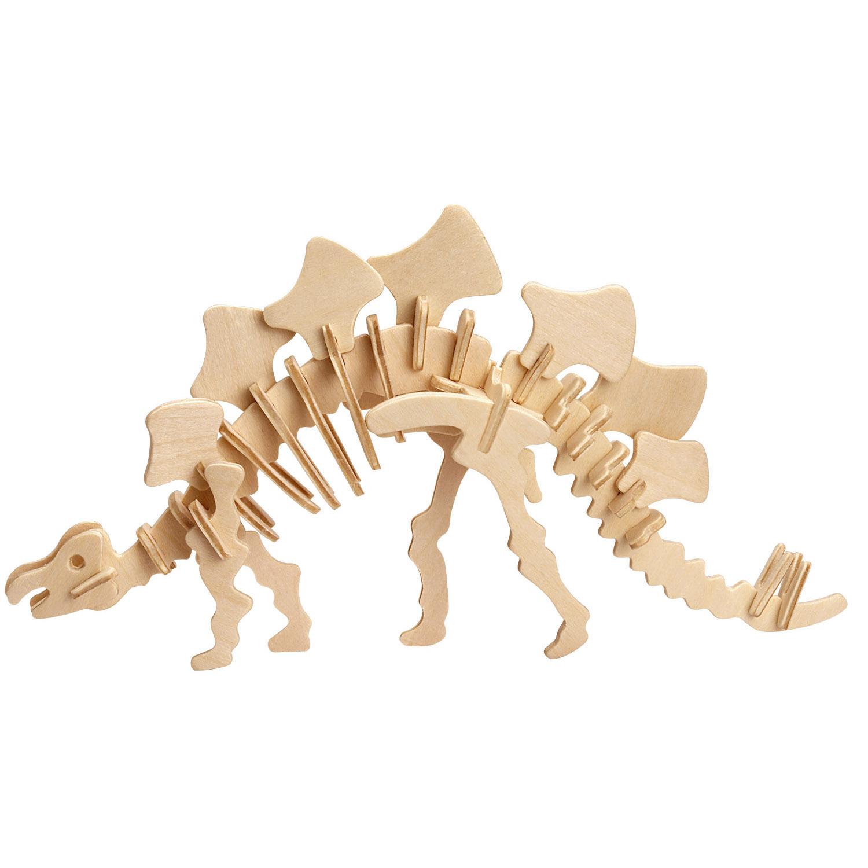 3d puzzle aus holz stegosaurus 38 teile professor puzzle puzzle online kaufen. Black Bedroom Furniture Sets. Home Design Ideas