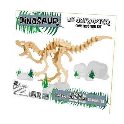 Professor-Puzzle-DC1156 3D Holzpuzzle - Velociraptor