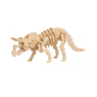 3d puzzle aus holz triceratops tyrannosaurus rex 17 teile professor puzzle puzzle online. Black Bedroom Furniture Sets. Home Design Ideas