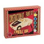 Professor-Puzzle-PS1193 3D Puzzle aus Holz + Farben - Sportwagen