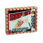 Professor-Puzzle-PS1196 3D Puzzle aus Holz + Farben - Hubschrauber