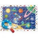 Puzzle  Ludattica-58266 XXL Teile - Baby Détective: The Space