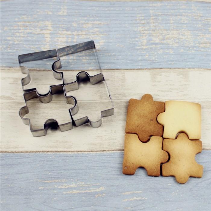 Ausstecher Puzzleteil - 4 Stück