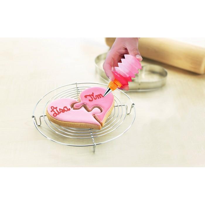 Herz-Keks für Zwei, 2 Ausstecher in Puzzleform
