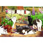 Puzzle  The-House-of-Puzzles-1585 XXL Teile - Cool Cats
