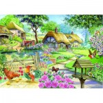 Puzzle  The-House-of-Puzzles-1592 XXL Teile - Cottage - Country Living