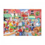 Puzzle  The-House-of-Puzzles-1837 XXL Teile - In The Town