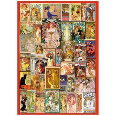 Wentworth-662913 Holzpuzzle - Art Nouveau Poster Collage