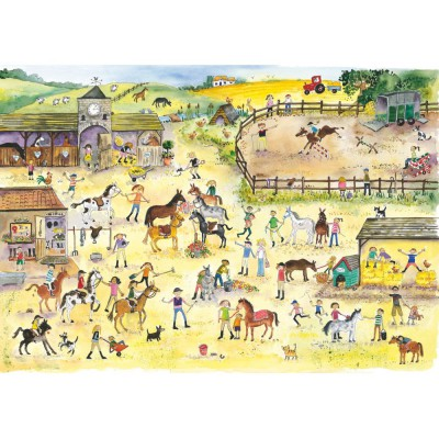 Wentworth-682303 Holzpuzzle - Julia Rigby: Riding Stables