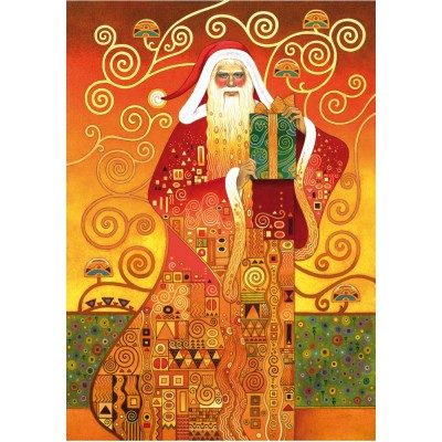 Wentworth-691203 Holzpuzzle - Carol Lawson: Klimt Santa