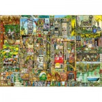 Wentworth-702413-1000 Holzpuzzle - Colin Thompson: Skurrile Stadt