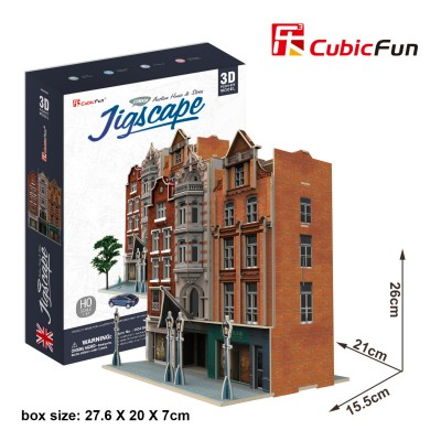 Cubic-Fun-HO4103h 3D Puzzle - Jigscape Collection - Auction House & Stores (Schwierigkeit: 5/6)