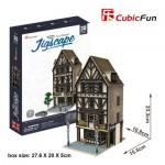 Cubic-Fun-HO4104h 3D Puzzle - Jigscape Collection - Tudor Restaurant (Schwierigkeit: 5/6)