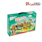 Cubic-Fun-K1002H 3D Puzzle - Amusement Park Journey - Schwierigkeit: 3/8