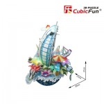 Cubic-Fun-OC3212L 3D Puzzle mit LED - Cityscape Collection - Dubai (Schwierigkeit: 4/6)