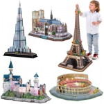 Cubic-Fun-Set-LED-Deluxe 5 3D Puzzles LED Deluxe