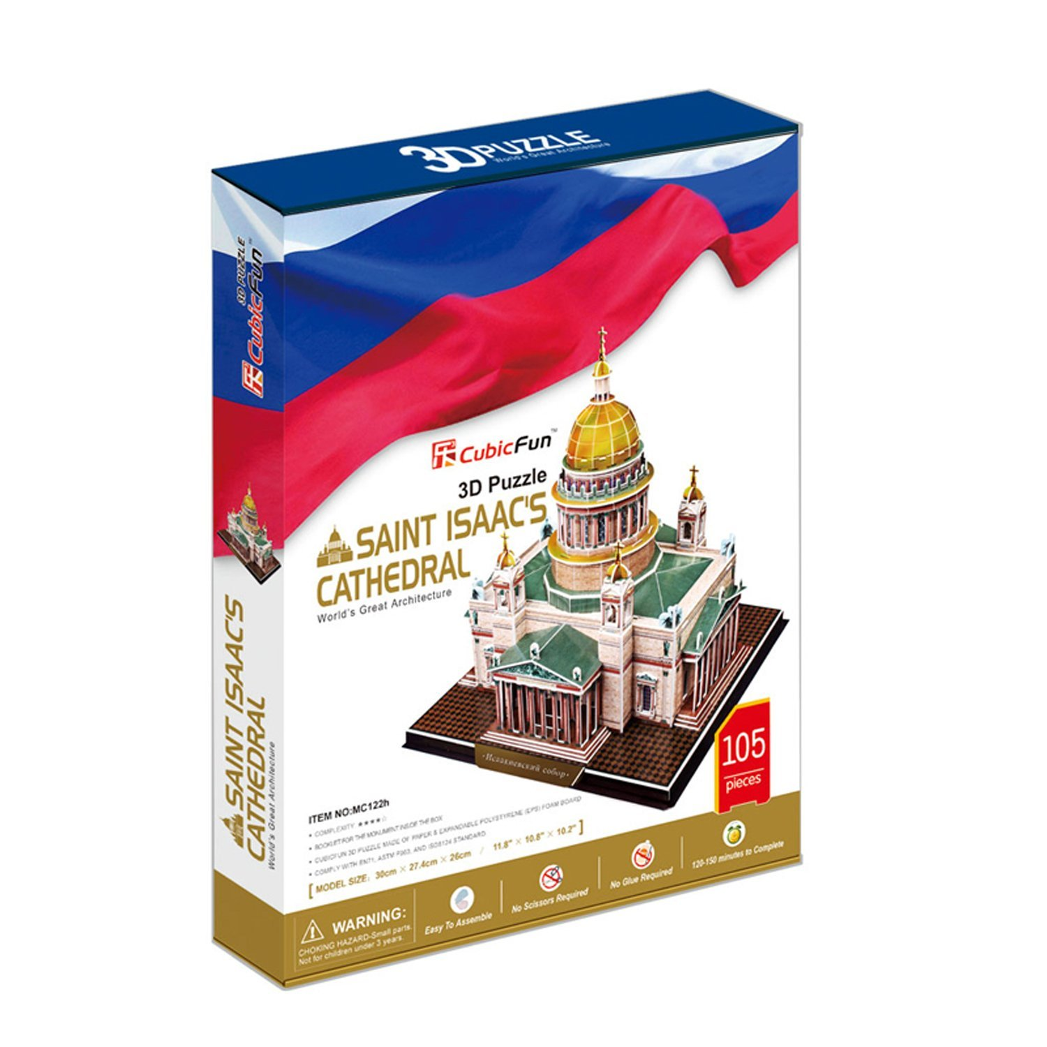 puzzle 3d isaakskathedrale sankt petersburg 105 teile cubic fun puzzle online kaufen. Black Bedroom Furniture Sets. Home Design Ideas