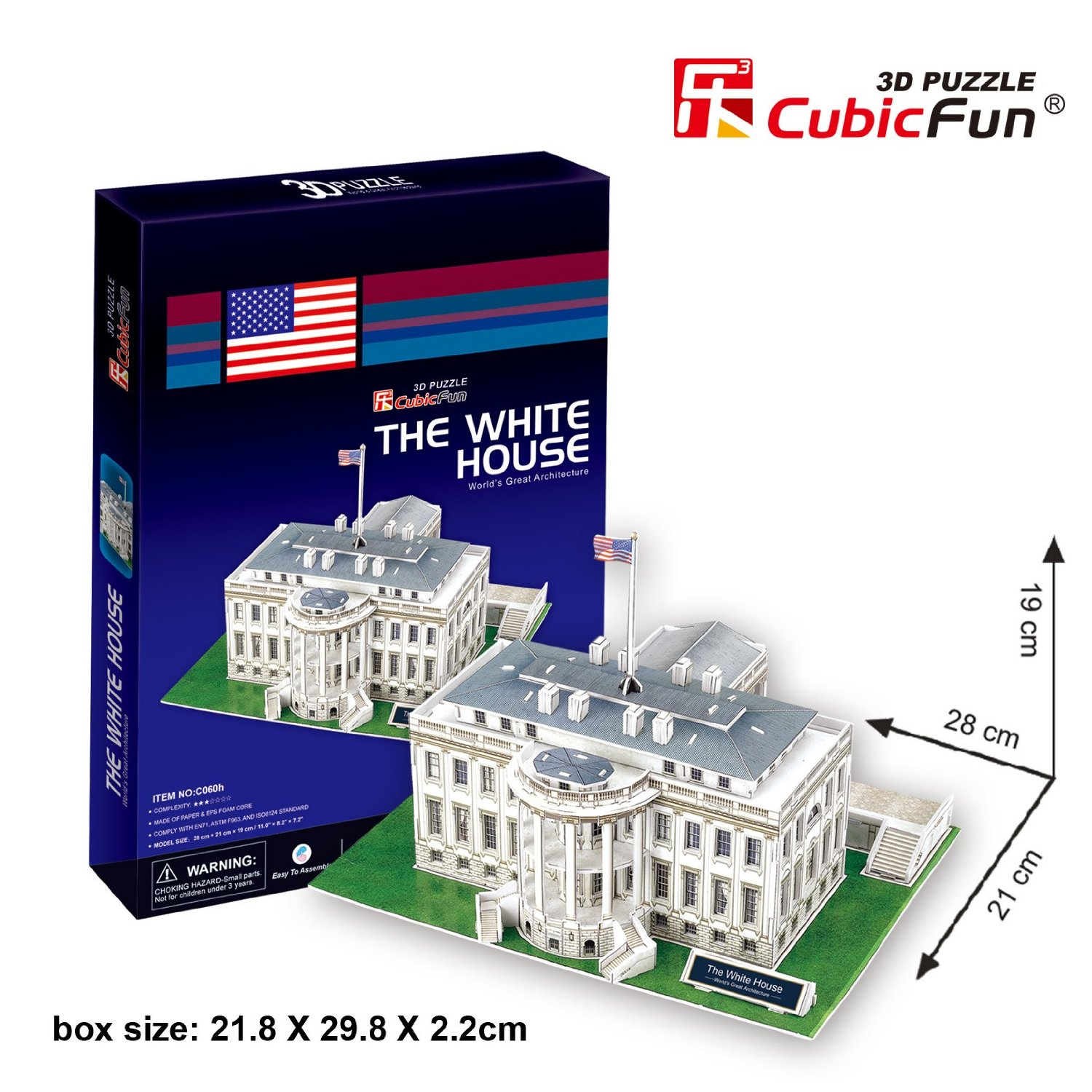 puzzle 3d washington weisses haus 65 teile cubic fun puzzle online kaufen. Black Bedroom Furniture Sets. Home Design Ideas