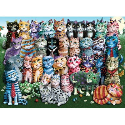 Puzzle Perre-Anatolian-1030 Cat Family Reunion