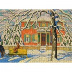Puzzle   Lawren S. Harris - Red House and Yellow Sleigh