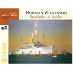 Puzzle   Norman Wilkinson - Stratheden at Anchor