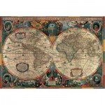 Puzzle  Pomegranate-AA603 Henricus Hondius: Antique World Map