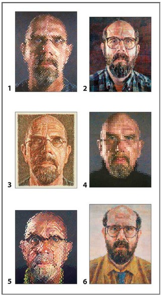 Pomegranate-PB003 Chuck Close Block Puzzle