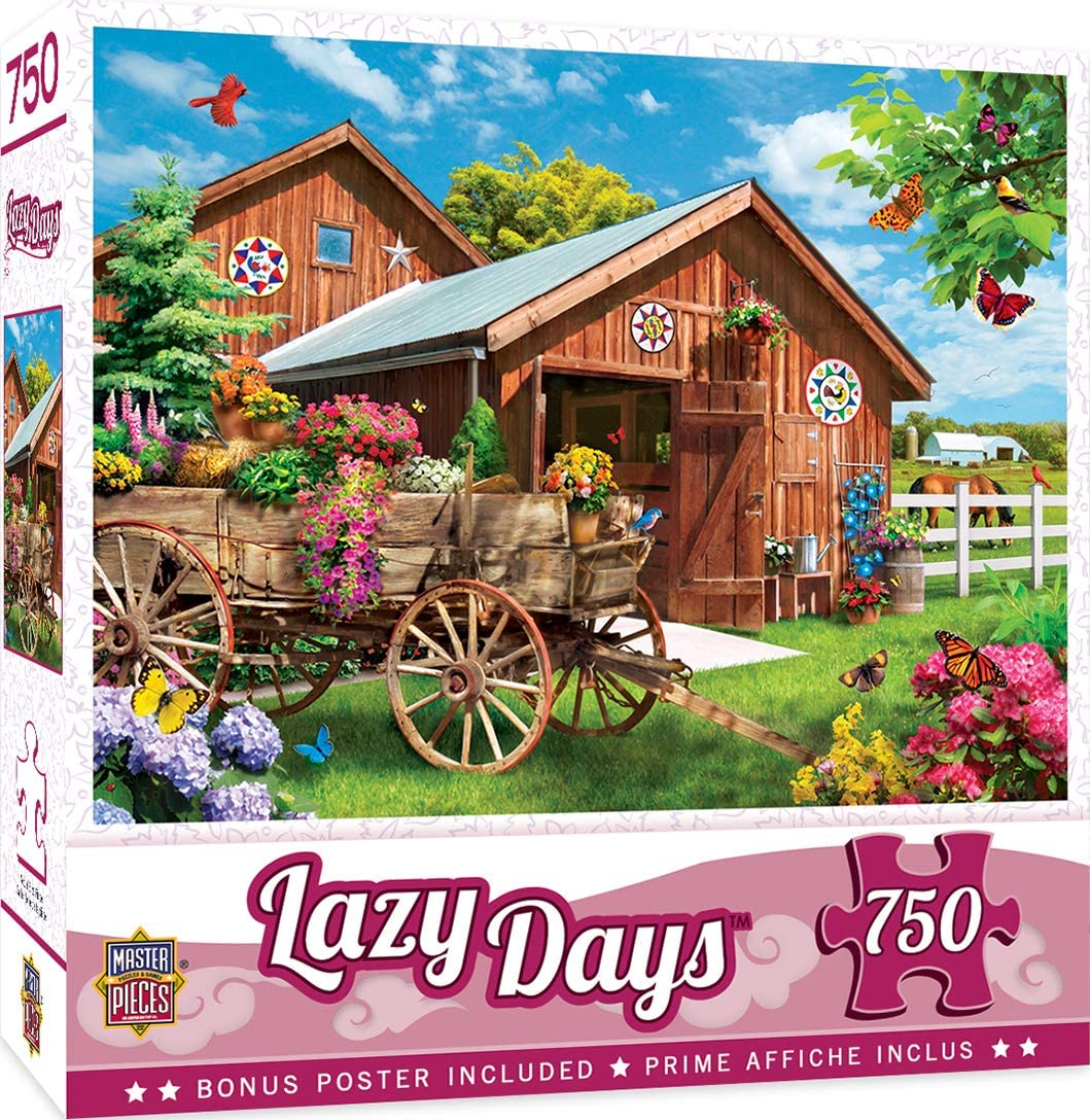 Puzzle Lazy Days   Flying to Flower Farm