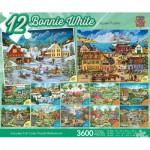 Master-Pieces-31536 12 Puzzles - Bonnie White