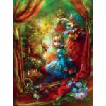 Puzzle  Master-Pieces-31648 XXL Teile - Book Box - Alice at the Chessboard