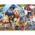 Puzzle  Master-Pieces-31724 XXL Teile - Camping Buddies