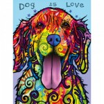 Puzzle  Master-Pieces-31821 XXL Teile - Dean Russo - Dog is Love