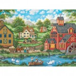 Puzzle  Master-Pieces-31837 Swan Pond