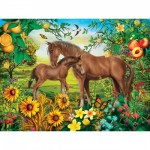 Puzzle  Master-Pieces-31849 XXL Teile - Neighs & Nuzzles