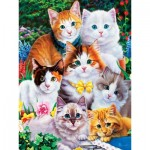 Puzzle  Master-Pieces-31919 XXL Teile - Purrfectly Adorable