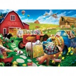 Puzzle  Master-Pieces-32106 XXL Teile - Quilt Country
