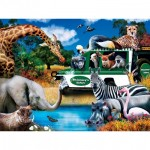 Puzzle  Master-Pieces-32152 XXL Teile - Watering Hole