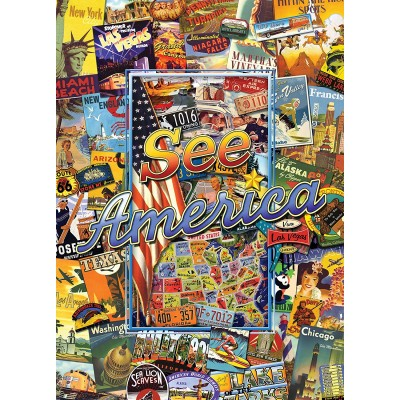 Master-Pieces-71661 Puzzle im Koffer - See America