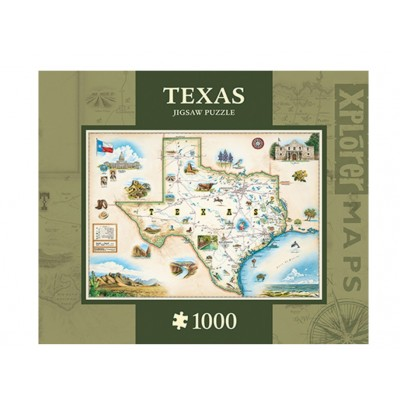 Puzzle Master-Pieces-71711 Xplorer Maps - Texas