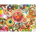 Puzzle   XXL Teile - Funny Face Food