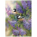 Puzzle   Chickadees and Lilacs