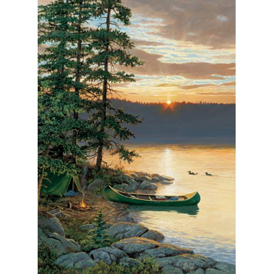 Puzzle Cobble-Hill-51662 Persis Clayton Weirs: Kanu auf dem See