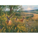 Puzzle  Cobble-Hill-51789 Rehe im Sommer